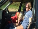 Un largo viaje por carretera con la zorra de mi suegra